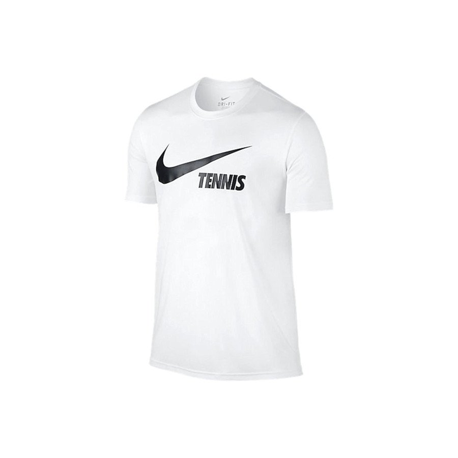 Nike tennis Clothing – Men's Swoosh Tennis T-Shirt (white)