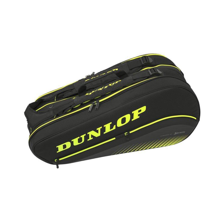 Dunlop SX Performance 8-Racket Thermo Tennis Bag (Black & Yellow)